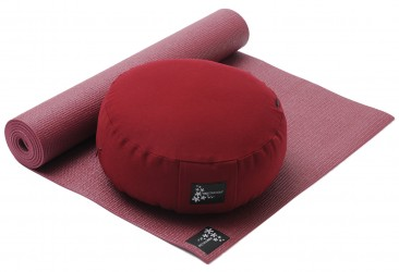 Yoga-Set Starter Edition - Meditation (Yoga mat + Cushion) bordeaux