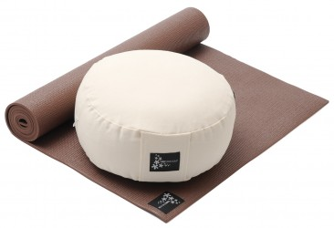 Yoga-Set Starter Edition - Meditation (Yoga mat + Cushion) choco