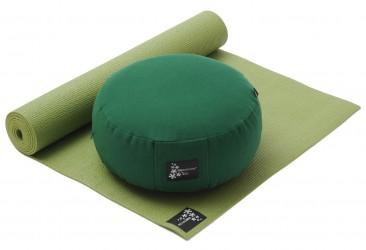 Yoga-Set Starter Edition - Meditation (Yogamatte + Kissen) green