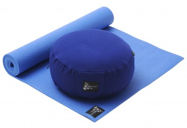 Yoga-Set Starter Edition - Meditation (Yoga mat + Cushion) blue