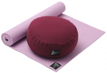 Yoga-Set Starter Edition - Meditation (Yoga mat + Cushion) rose