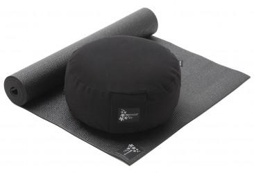 Yoga-Set Starter Edition - Meditation (Yogamatte + Kissen) black