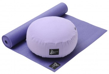 Yoga-Set Starter Edition - Meditation (Yoga mat + Cushion) violet