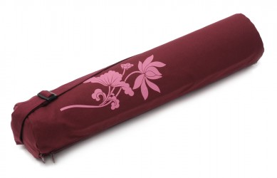 Funda yogibag basic zip art collection - algodón lotus flower bordeaux