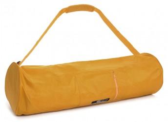 Yoga carrybag basic - zip - extra big - nylon - 80 cm safran