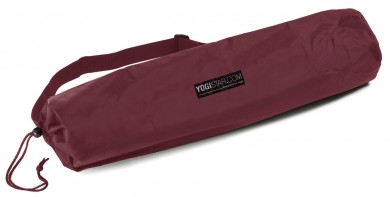 Yoga carrybag basic - nylon - 65 cm bordeaux
