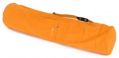 Yoga carrybag basic - zip - extra big - cotton - 109 cm safran
