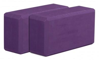 Yogablock - yogiblock basic Set of 2 aubergine (Formamid-free)