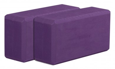 Yogablock - yogiblock basic 2-er Set aubergine (Formamid-frei)
