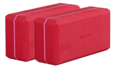 Yoga Block - conjunto básico de 2 yogiblock red