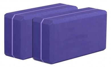 Yogablock - yogiblock basic 2-er Set violett