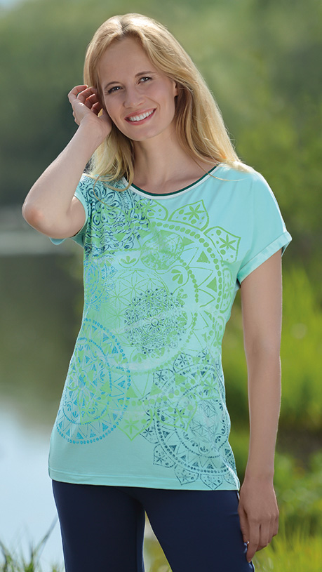 "Shirt ""Mandala Dream"", mint"