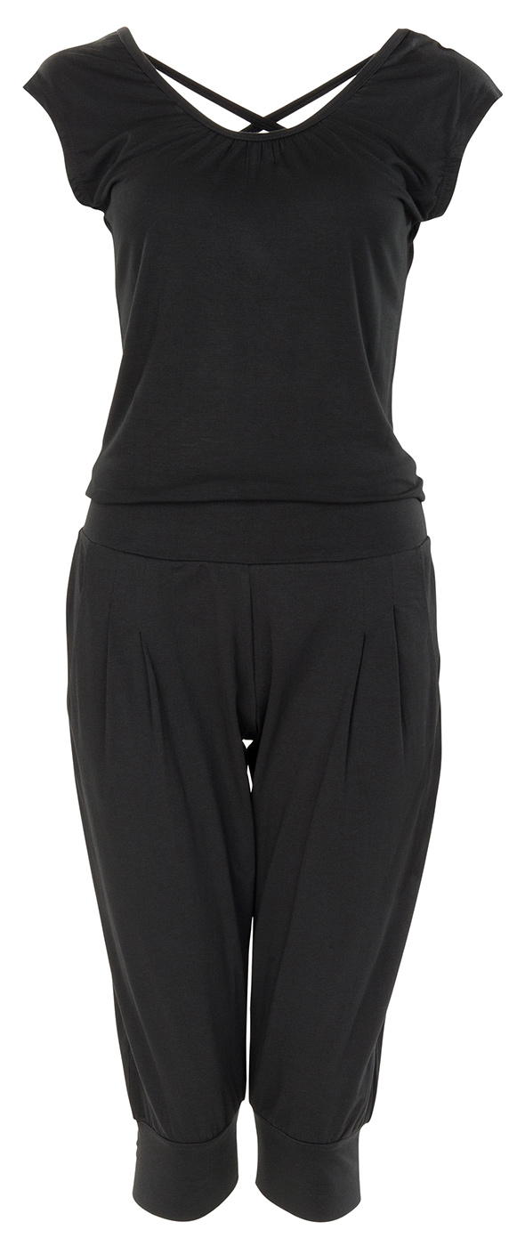 "3/4 Jumpsuit ""Chandra"" - black"