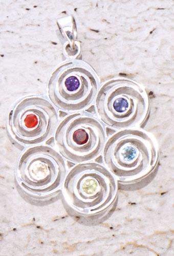 Anhänger Chakra Spirale