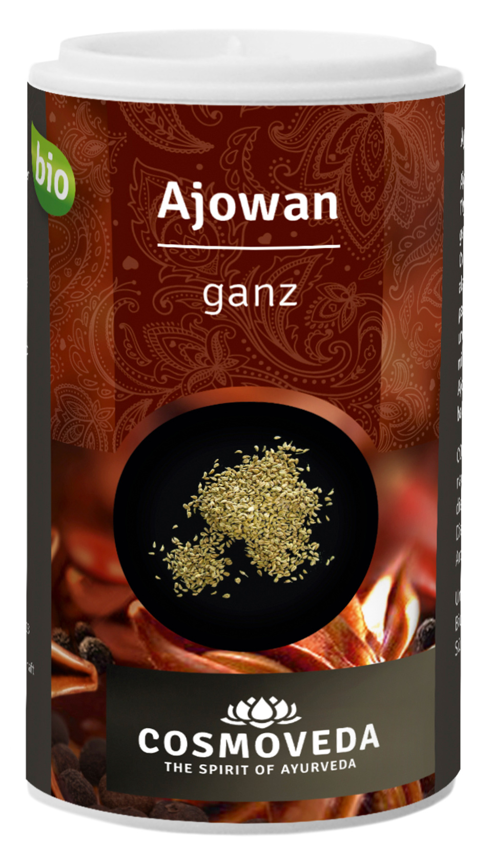Bio Ajowan / Ajwain (Königskümmel), ganz, 30 g