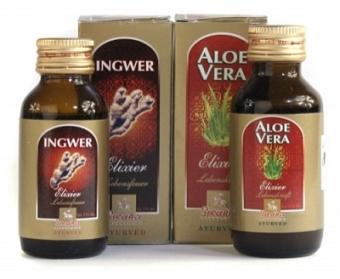 Ingwer und Aloe Vera Elixier-Set (2 x 60 ml)