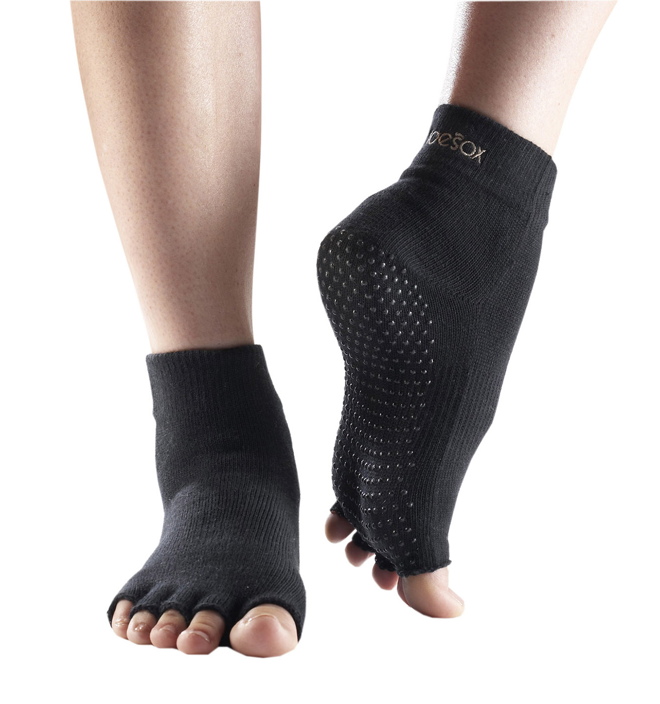 "Toe Socks ""ANKLE"", open, black"