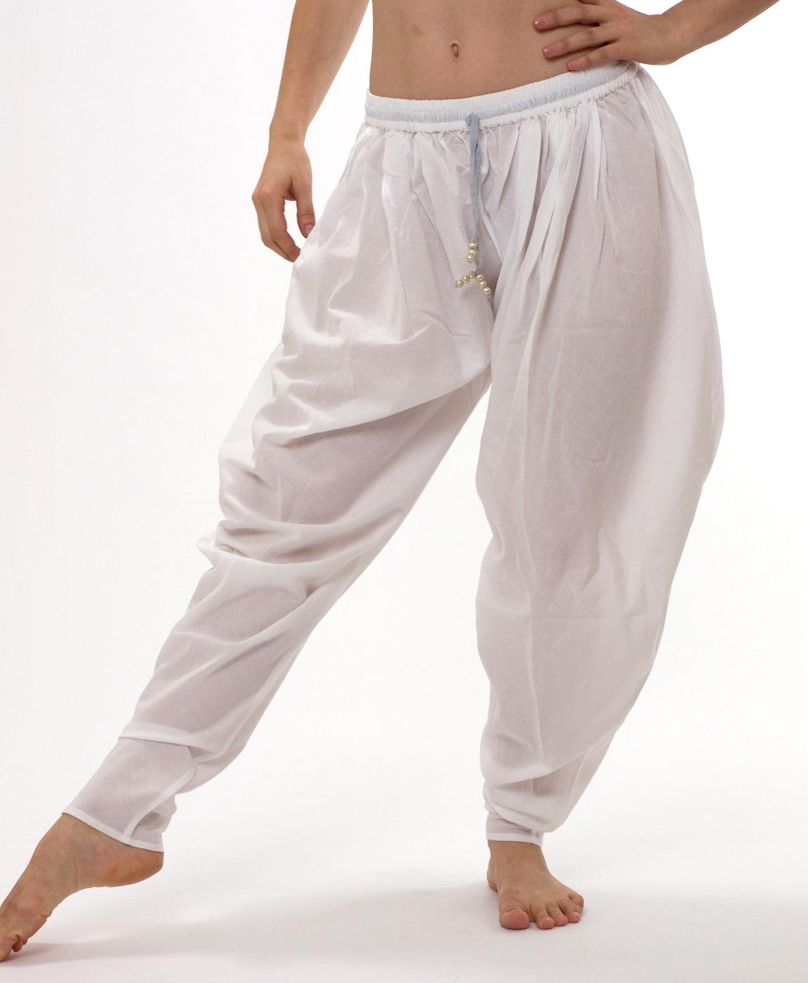 Baggy Churidaar yoga pant - white