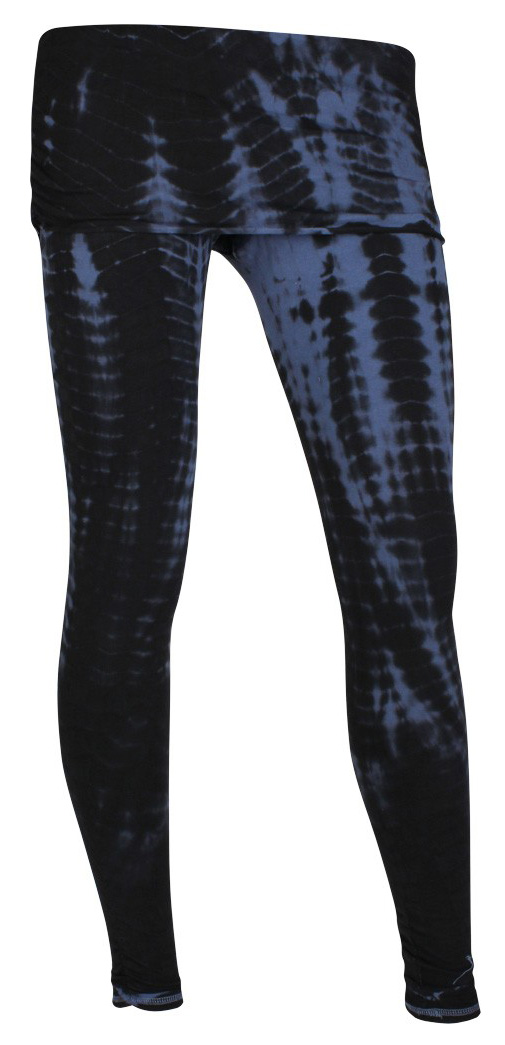 Batik-Pants long, petrol-black