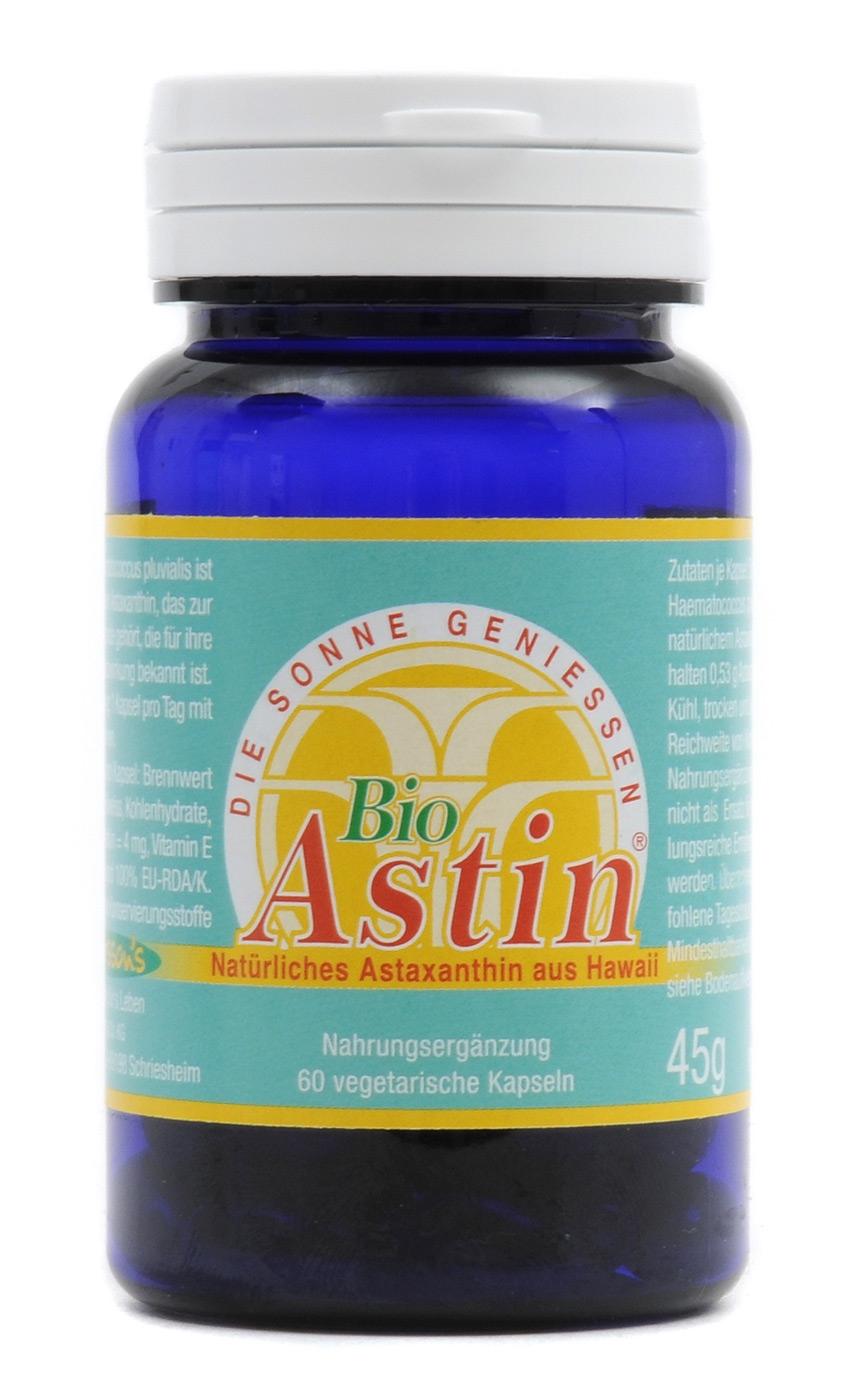 BiuAstin - 60 Kapseln Natürliches Astaxanthin (konv. Anbau), 45 g