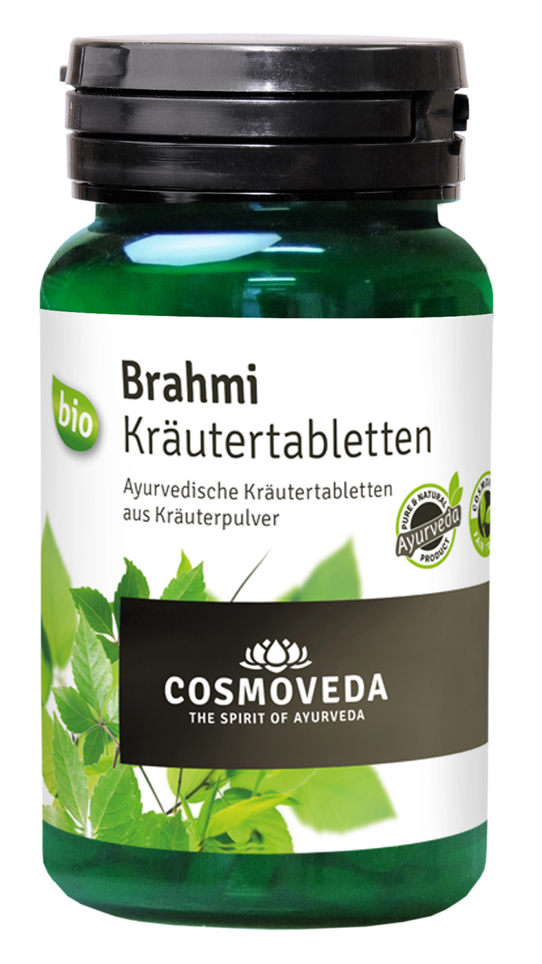 bio brahmi tabletten 60 g im yogishop kaufen yoga yogamatten yoga zubeh r. Black Bedroom Furniture Sets. Home Design Ideas