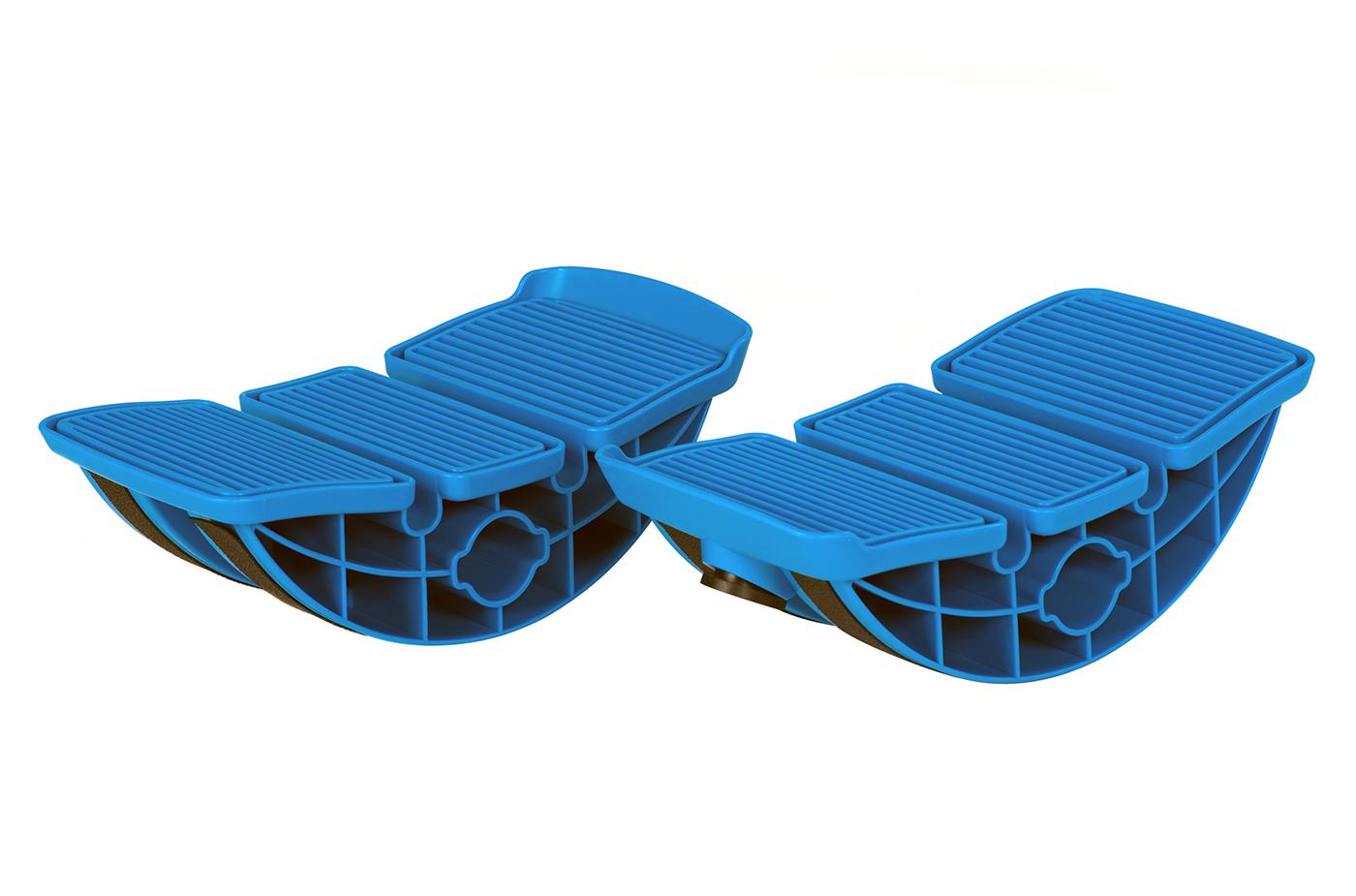 Waden-Stretch-Set - blau