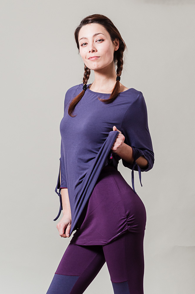 Lounge Comfort Yogi Top, purple