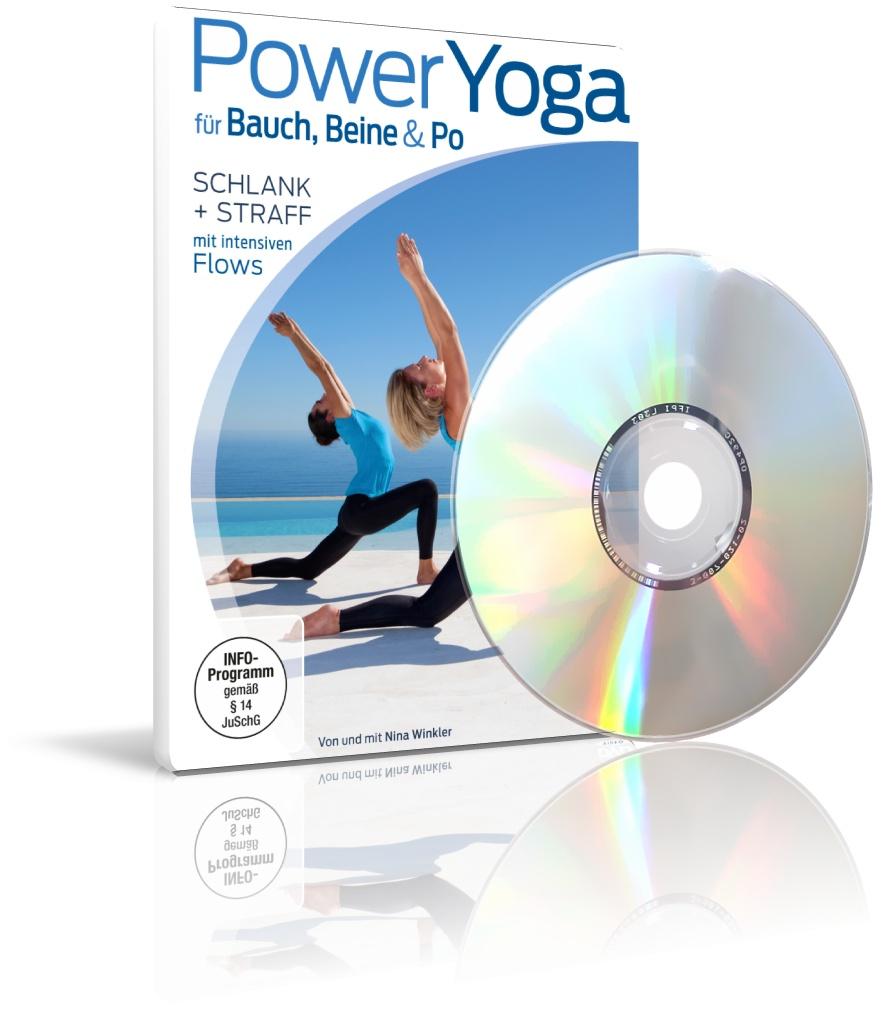 PowerYoga für Bauch, Beine & Po von Nina Winkler (DVD)