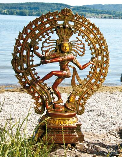 Shiva Nataraj-Statue aus Messing, 55cm