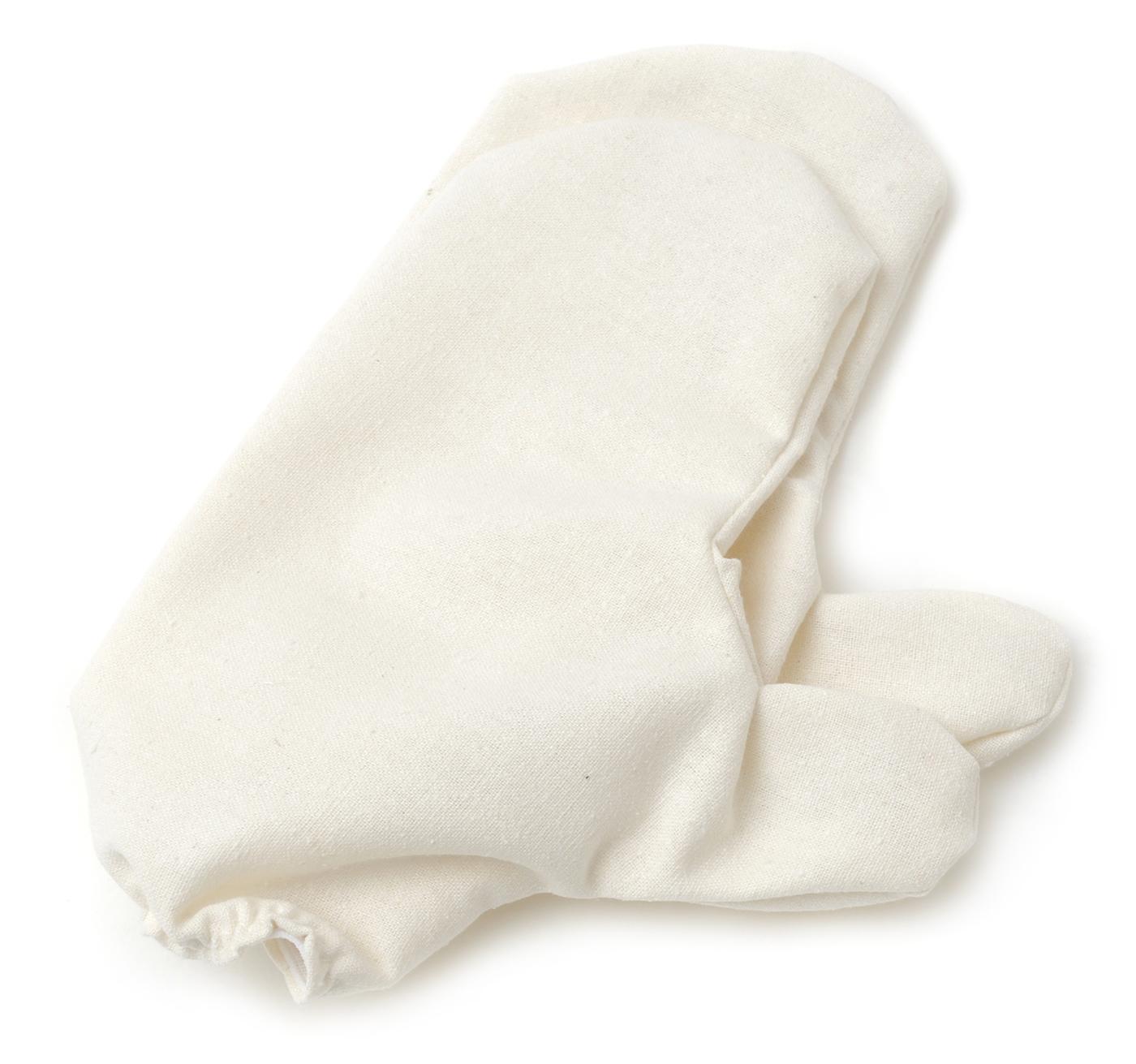 Massagehandschuhe aus Rohseide (1 Paar)