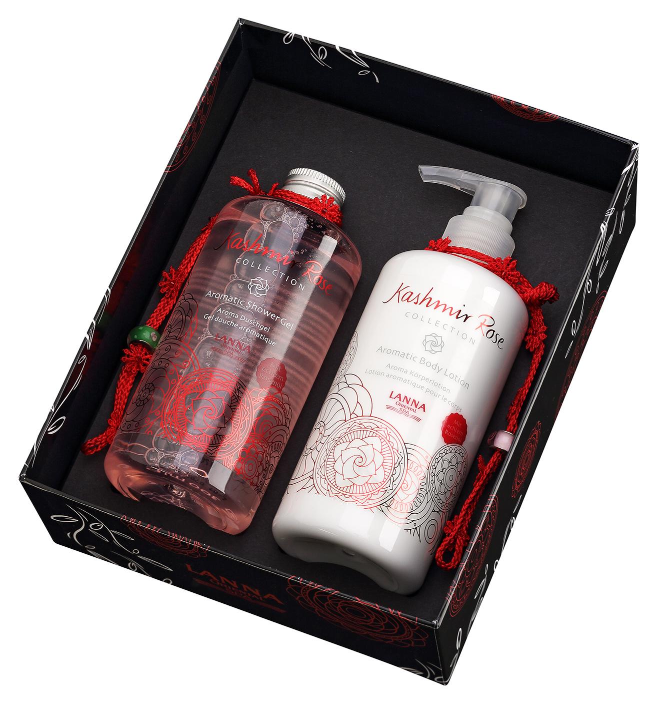 Geschenkset Kashmir Rose - Shower Gel & Body Lotion