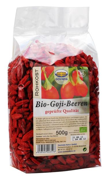 Bio Goji-Beeren, 500 g