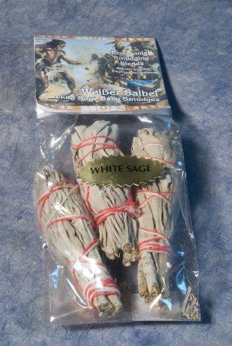 Weißer Salbei - 3 Mini Smudges