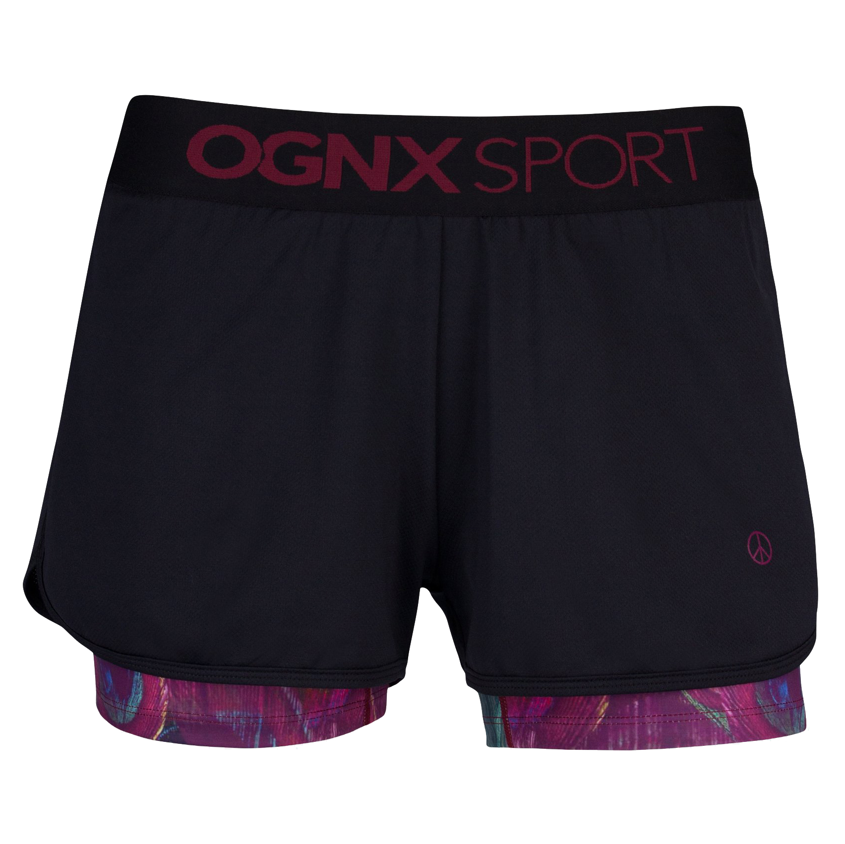 Function Shorts Peacock, black-wine