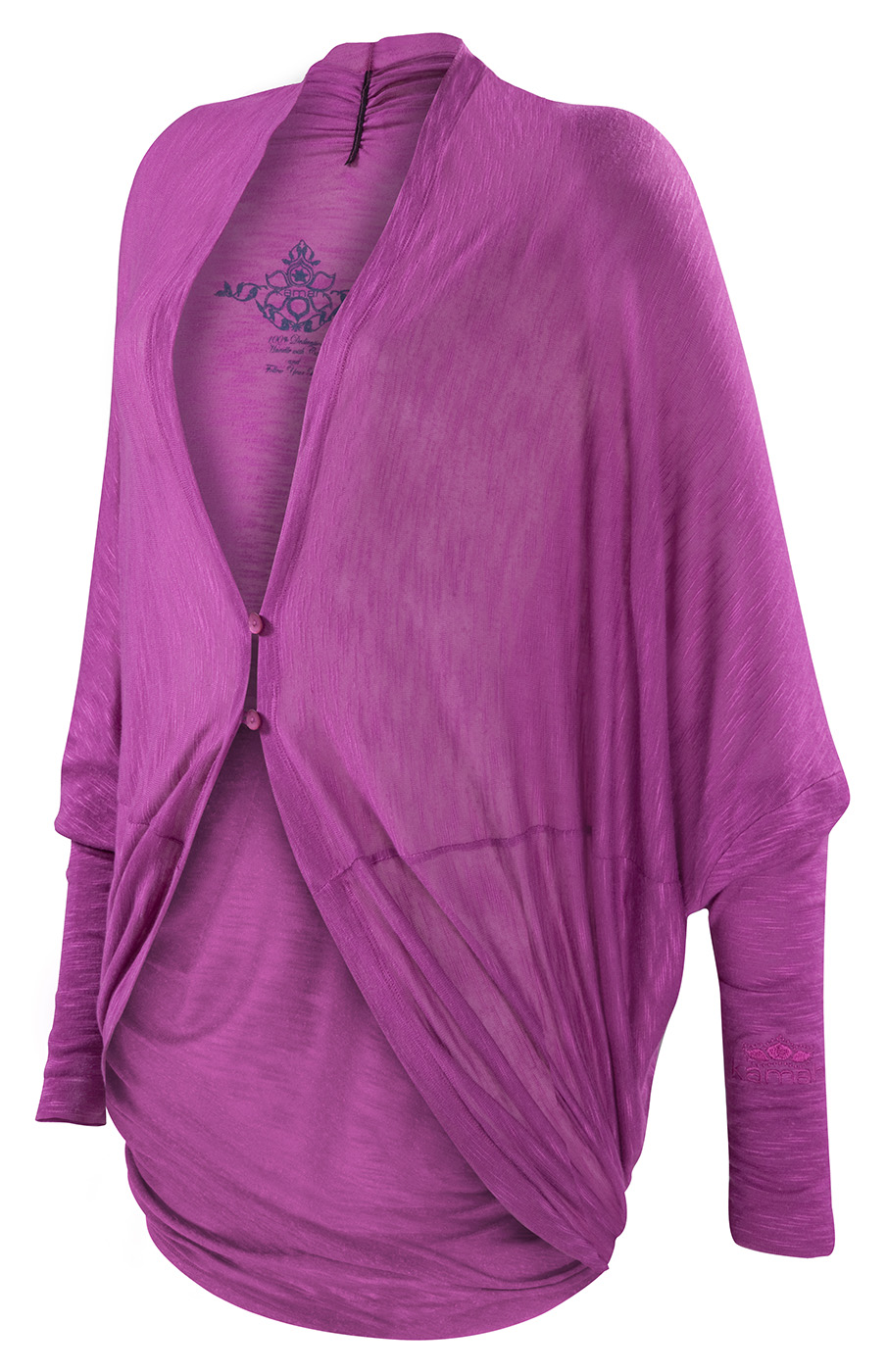 "Long Cardigan ""Inci"", deep orchid"