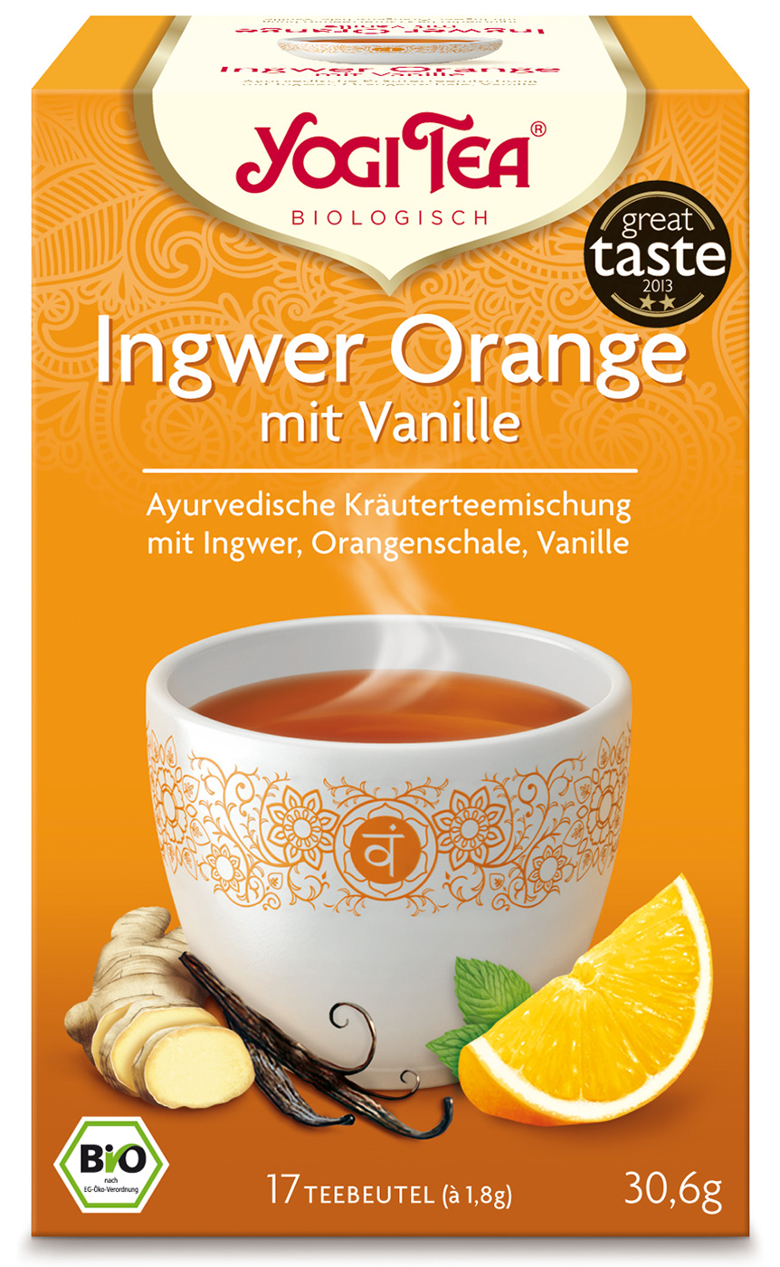 Bio Ingwer Orange mit Vanille Teemischung, 30,6 g