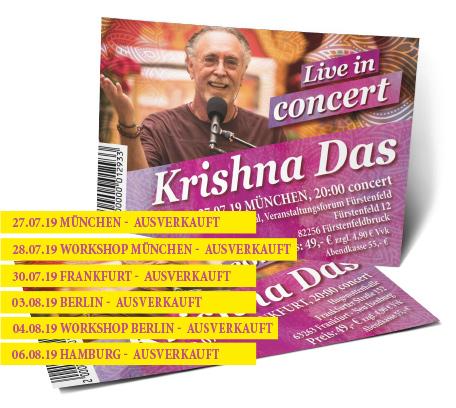 Krishna Das Ticket - Peace of My Heart Tour Deutschland 2019