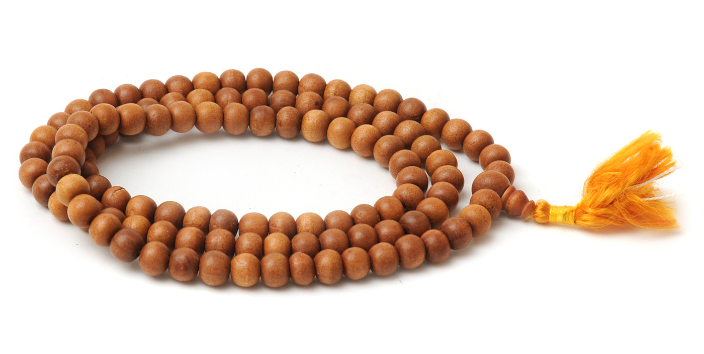 Mala-Kette aus Sandelholz