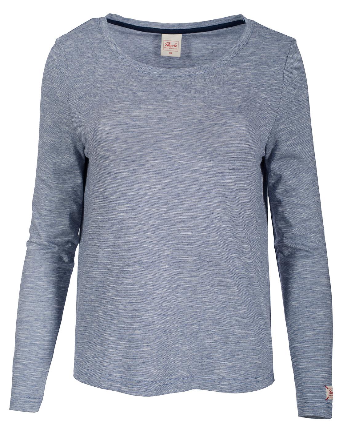 Langarm Shirt, blue melange
