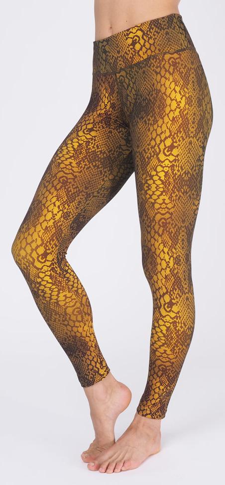 """Leggings """"Devi"""", ochre snake"""