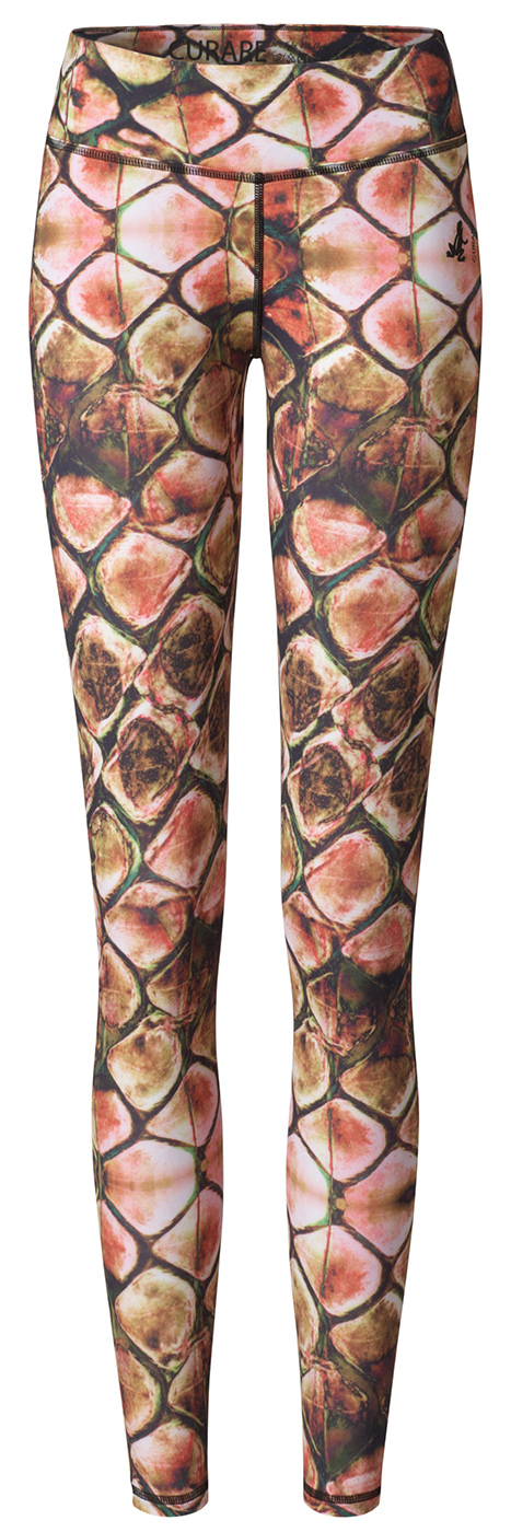Leggings straight - multicolor print