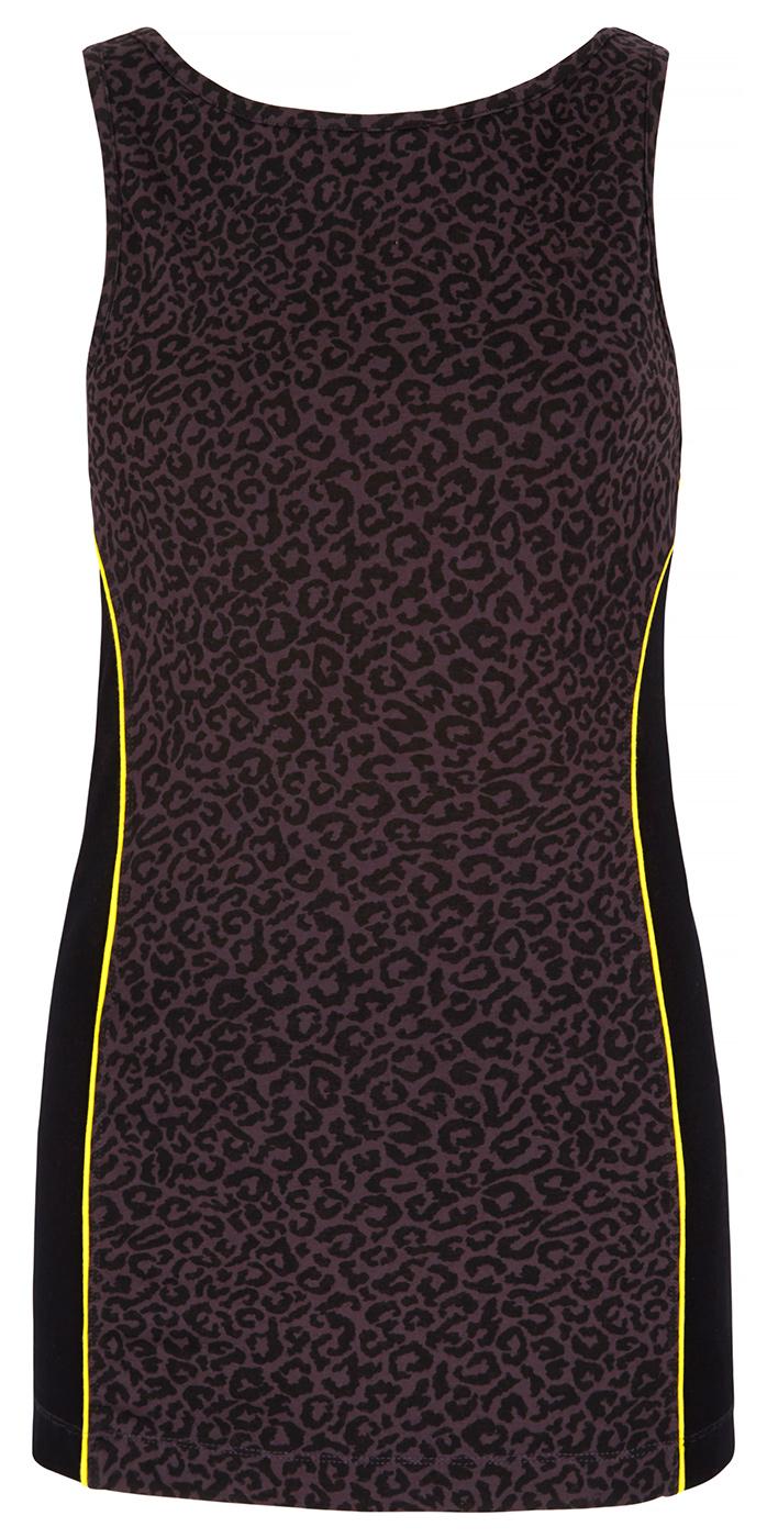 Boatneck-Top mit Bra - leopard
