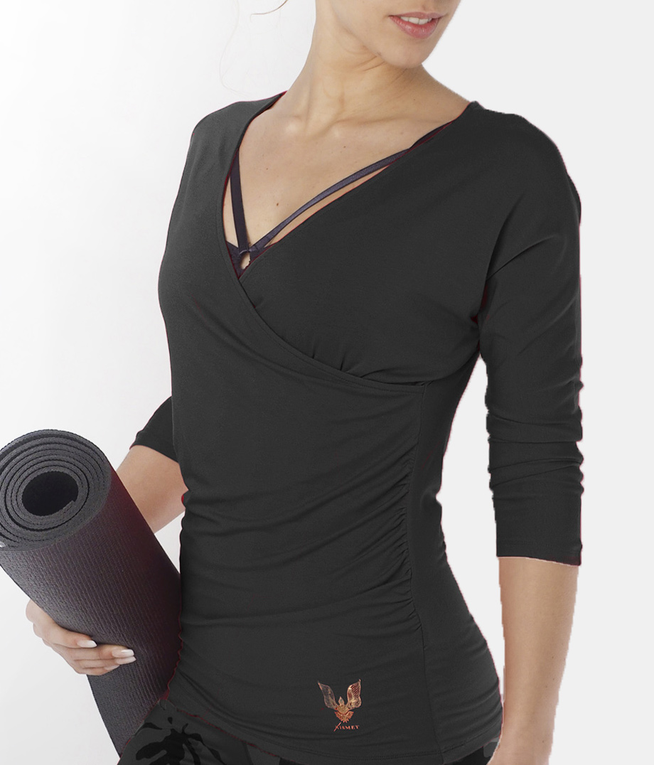 """Long-Sleeve """"Indra"""" - anthracite"""