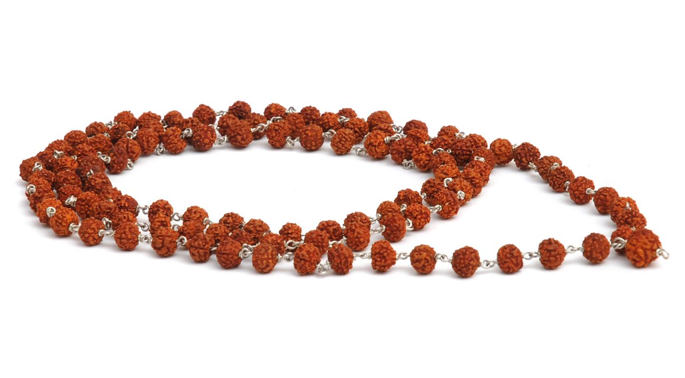 Mala-Kette aus 108 Rudraksha-Perlen