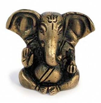 Mini Ganesha - Messingstatue 4,5 cm