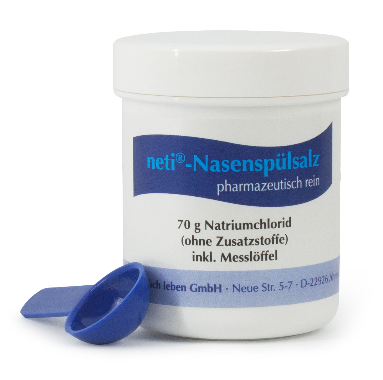 neti® Nasenspülsalzdose mit Messlöffel, 70 g