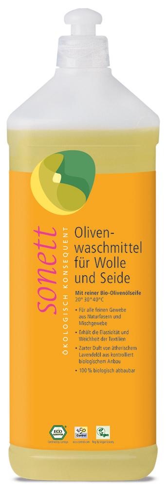 Olivenwaschmittel für Wolle & Seide, 1 l