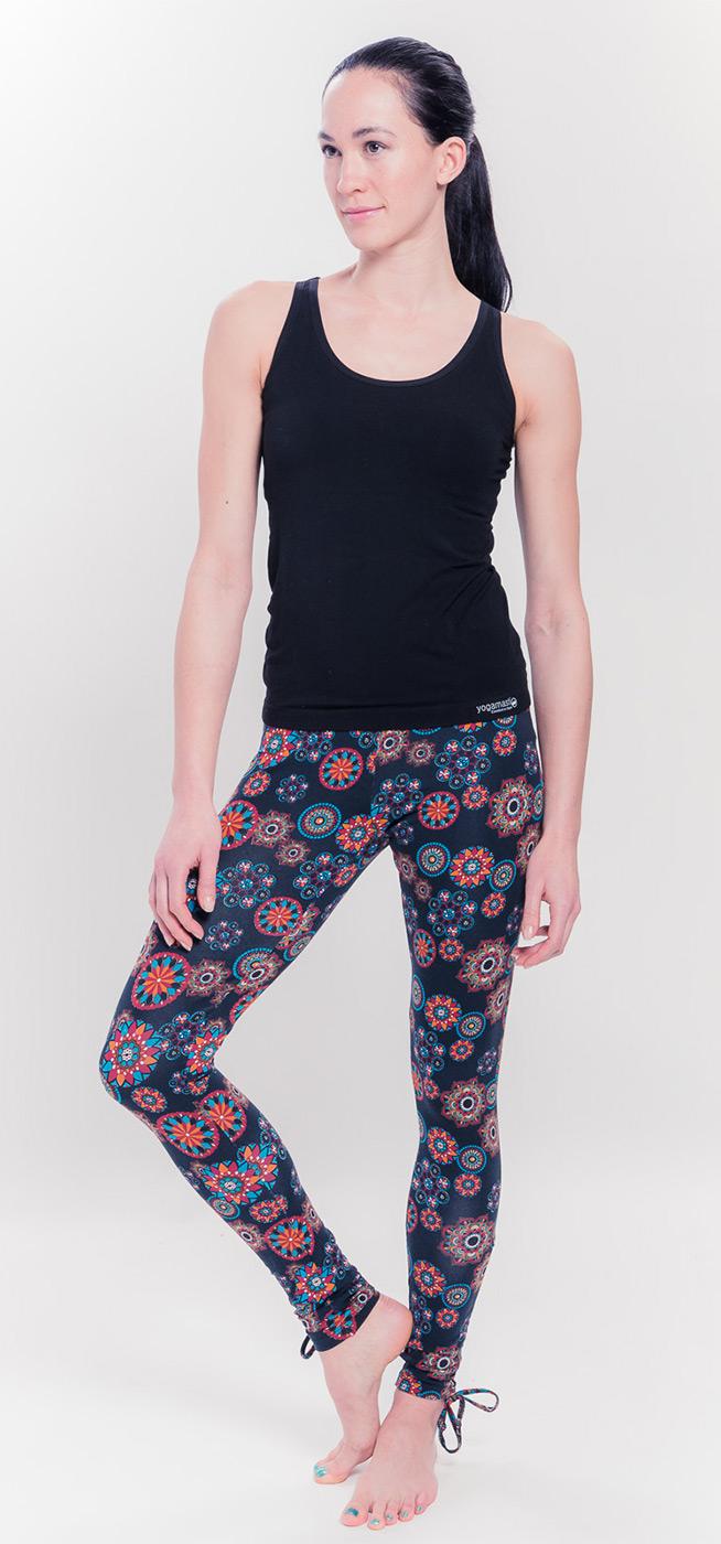 Organic Mandala Leggings - black/print