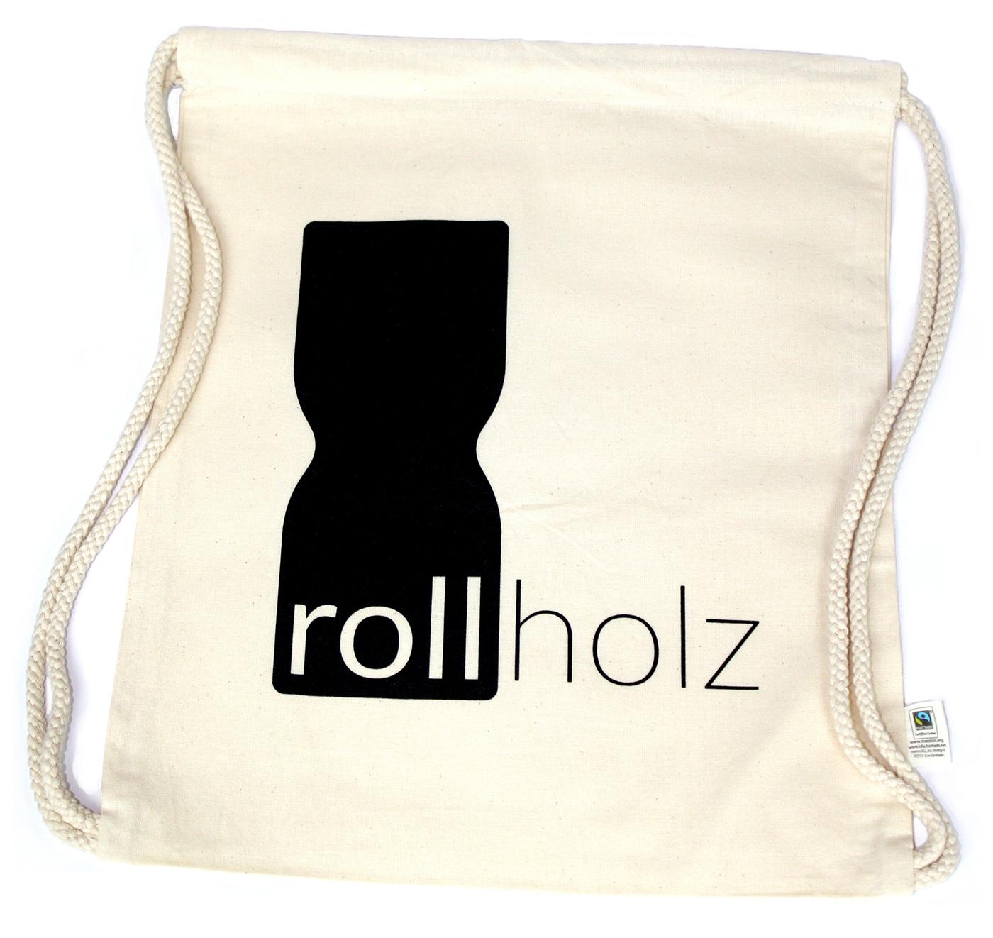 rollholz Fairtrade Bio-Baumwollbeutel