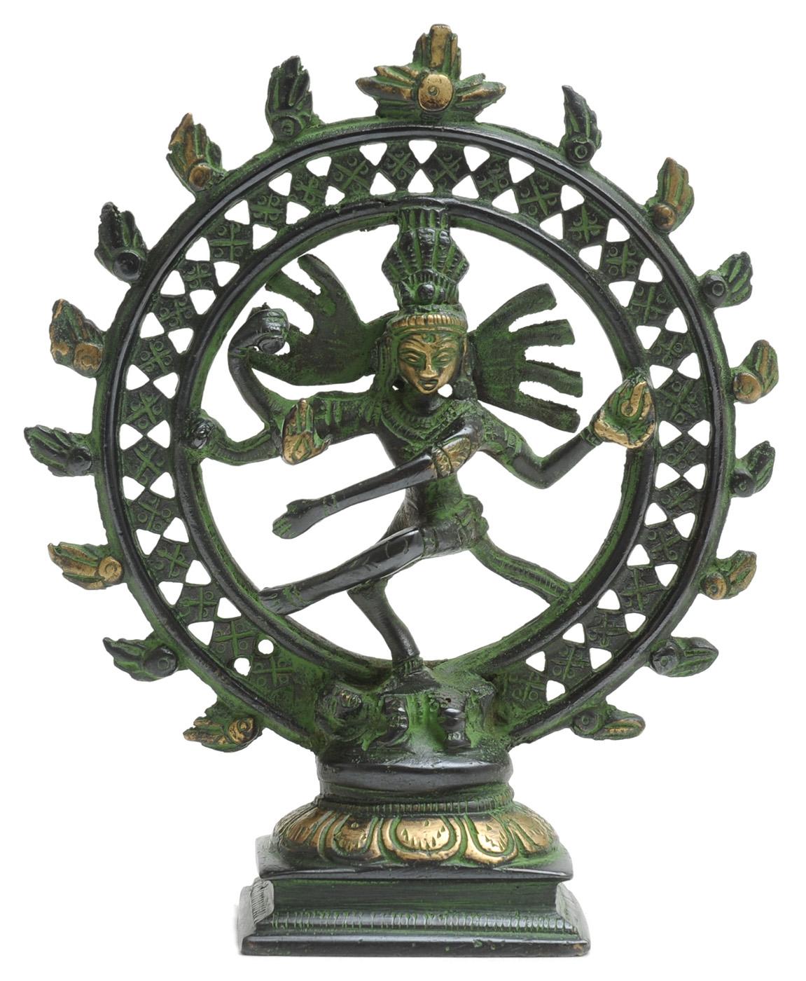 Shiva Nataraj-Statue aus Messing, 15cm